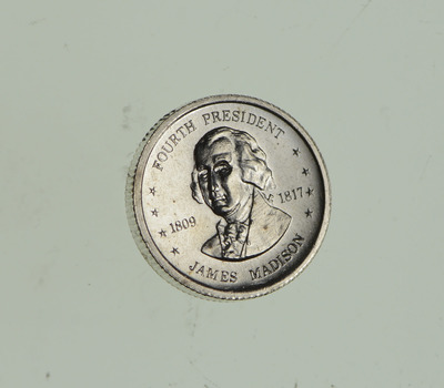 Rare Sterling Silver - Official Presidential Collectible Franklin Mint Round - Awesome Silver Ingot!