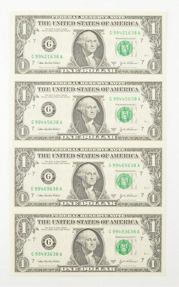 Rare** UNCUT SHEET - 2003-A $1 - Choice Unc - Never Cut by the Treasury!
