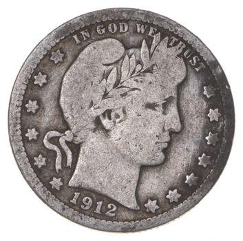 Razor Sharp - 1912 Barber Liberty Quarter 90% Silver