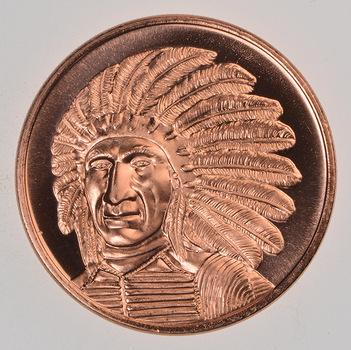 Red Cloud - Native American Series - 1 Oz .999 Fine Copper Round