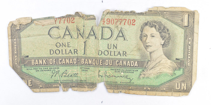 Replaced With Coins! - Canadian Paper Currency Note - Nice!