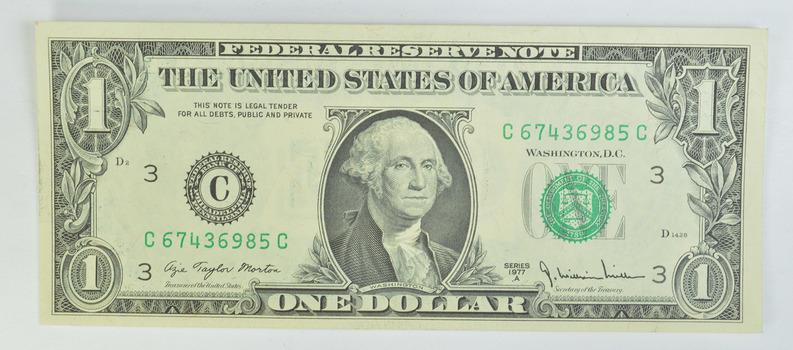 Richmond District - 1977-A $1.00 Crisp Uncirculated Federal Reserve Note