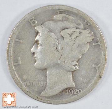Roaring 1920'S - 1920 Mercury Liberty Head Silver Dime