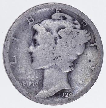 Roaring 1920'S - 1924-S Mercury Liberty Head Silver Dime