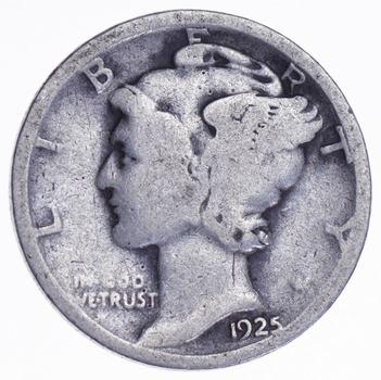 Roaring 1920'S - 1925 Mercury Liberty Head Silver Dime