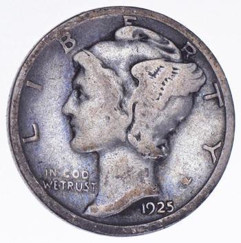 Roaring 1920'S - 1925-D Mercury Liberty Head Silver Dime