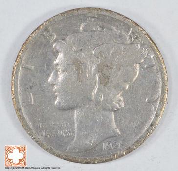 Roaring 1920'S - 1926-D Mercury Liberty Head Silver Dime