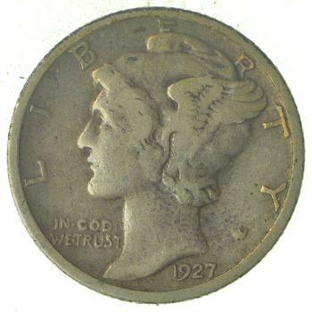 Roaring 1920's - 1927 Mercury Liberty Head Silver Dime