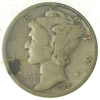Roaring 1920's - 1927-S Mercury Liberty Head Silver Dime