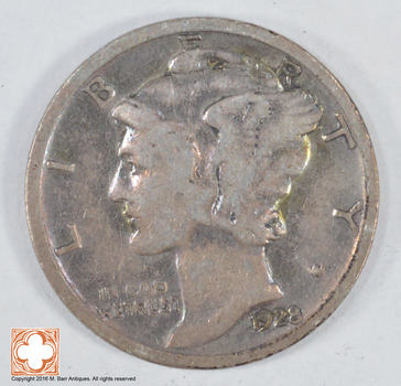 Roaring 1920'S - 1928 Mercury Liberty Head Silver Dime