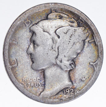 Roaring 1920'S - 1928-S Mercury Liberty Head Silver Dime