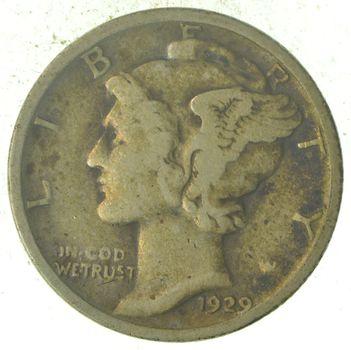 Roaring 1920's - 1929 Mercury Liberty Head Silver Dime