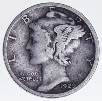 Roaring 1920'S - 1929-S Mercury Liberty Head Silver Dime