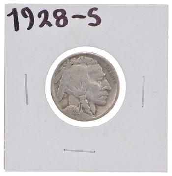 Roaring 20's - Early 1928-S Buffalo Nickel - Look it up!