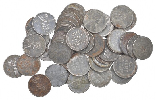 ROLL - 1943 P/D/S Lincoln Wheat Cent Steel WWII Coin Collection Lot