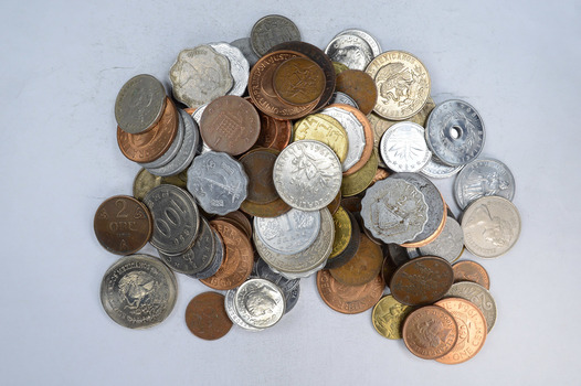 Roughly a POUND of Mixed World Coins - Great Mix