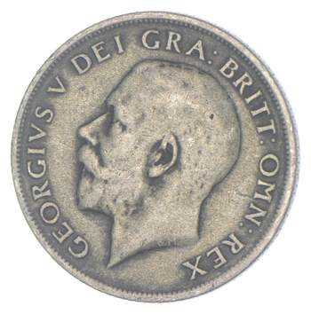 Roughly Size of a Quarter 1920 Great Britain 1 Shilling - World Silver Coin