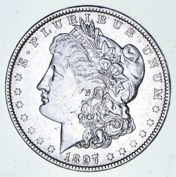 ***s$1 - RARE Date - 1897-O Morgan Silver Dollar - Tough to find