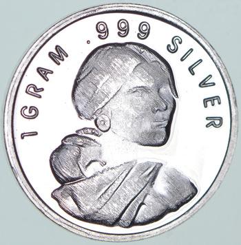 Sacagawea- 1 Gram .999 Fine Silver Round