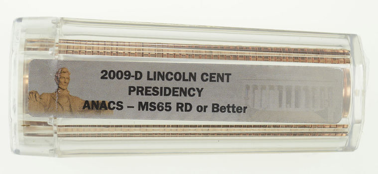 Sealed Roll (50 Coins) RED MS-65 & Better 2009-D Presidency Lincoln Cents ***ANACS Graded