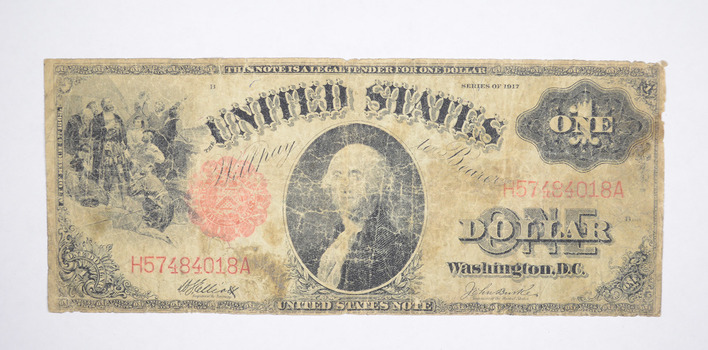 Seldom Seen! 1917 - Red Seal - Legal Tender $1.00 United States Note