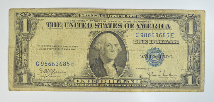 Series 'C' 1935 $1.00 Silver Certificate Blue Seal Note