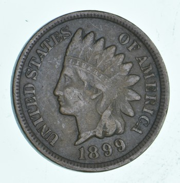 SHARP - 1899 - Indian Head Cent - Great Detail in Liberty - Tough Grade