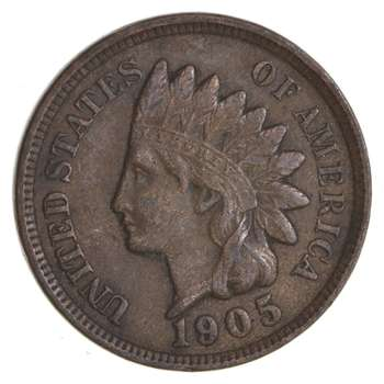 SHARP - 1905 - Indian Head Cent - Great Detail in Liberty - Tough Grade
