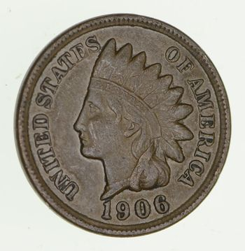 SHARP - 1906 - Indian Head Cent - Great Detail in Liberty - Tough Grade