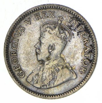 SILVER - 1927 South Africa 6 Pence - World Silver Coin
