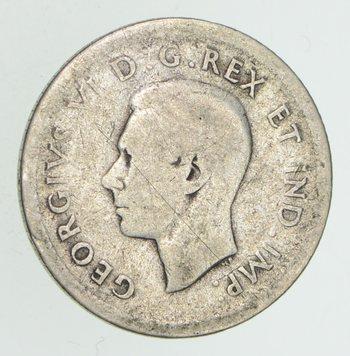 SILVER - 1938 Canada 10 Cents - World Silver Coin