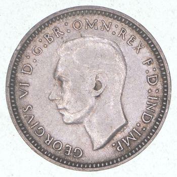 SILVER - 1942 Australia 3 Pence - World Silver Coin