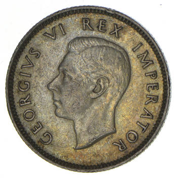 SILVER - 1942 South Africa 1 Shilling - World Silver Coin 5.7 Grams