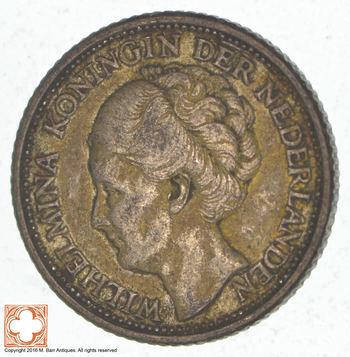 SILVER - 1944 Netherlands 1/4 Gulden - World Silver Coin