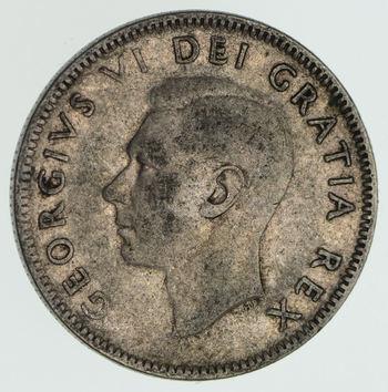 SILVER - 1950 Canada 25 Cents - World Silver Coin 5.7 Grams