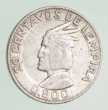 SILVER - 1958 Honduras 20 Centavos - World Silver Coin