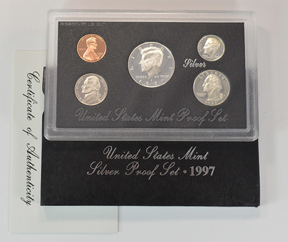 Silver 1997-S Deep Cameo U.S. Proof Set - 5 Coin Set - Includes 3 90% SILVER