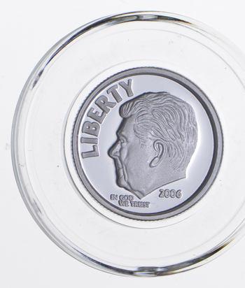 SILVER - 2006 Ronald Reagan Commememorative Silver Proof - .999 Fine Silver Round