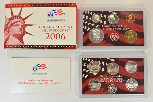 Silver 2006-S 10 Coin Deep Cameo U.S. Proof Set - Includes 5 State Quarters and Sacagawea Dollar