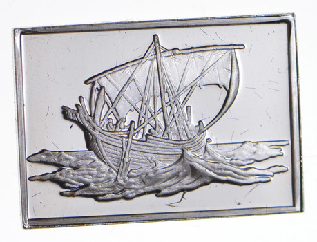 SILVER - Boat Series - Greek Merchantman - 3 Grams of .925 Fine Silver Bar