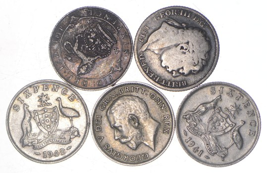 SILVER Collection Great Britain or Australian or New Zealand World Coin Lot