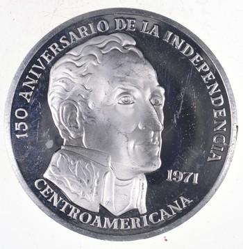 SILVER - HUGE - 1971 Panama 20 Balboas - World Silver Coin