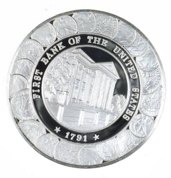 SILVER - Postmasters Of America - New York NY - 24.4 Grams of .925 Fine Silver Round