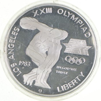 SILVER Proof 1983-S Los Angeles Olympiad Commemorative US Silver Dollar - 90% Silver - Collectible