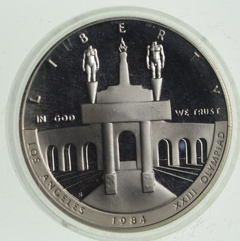 SILVER Proof 1984-S Los Angeles Olympiad Commemorative US Silver Dollar - 90% Silver - Collectible