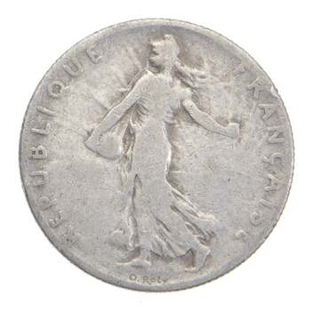 SILVER - Roughly the Size of a Dime - 1904 France 50 Centimes - World Silver Coin