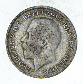 SILVER - Roughly the Size of a Dime - 1922 Great Britain 3 Pence - World Silver Coin