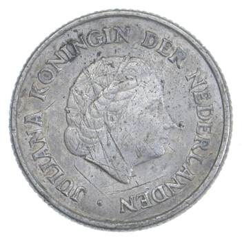 SILVER - Roughly the Size of a Dime - 1963 Netherlands Antilles 1/4 Gulden - World Silver Coin