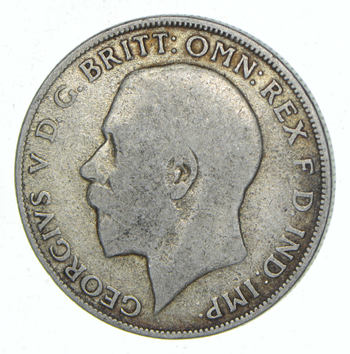 SILVER - Roughly the Size of a Half Dollar - 1922 Great Britain 1 Florin - World Silver Coin 11.0 Grams