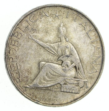 SILVER - Roughly the Size of a Half Dollar - 1961 Italy 500 Lire - World Silver Coin 11.1 Grams!